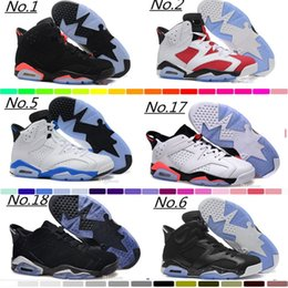 Wholesale 12 Wide Mens Shoes - Wholesale 6 VI Mens Basketball Shoes Retro Infrared 6s Sneakers Women Men 6 VI Sport Basketball Shoes GS Valentine's Day Shoes 4-5-10-12-13