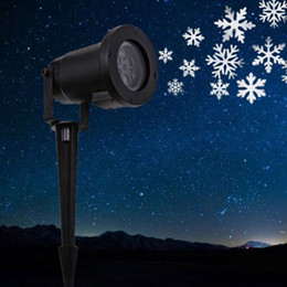 Wholesale Decorating Lights Outdoors - Decorate any surface Outdoor Waterproof Garden Tree Moving Snow Laser Projector Snowflake LED Stage Light Christmas Lights LEG_90S
