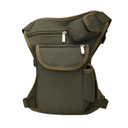 Wholesale Waist Bag Army - Trend Men's Waist Packs Travel Bags Fashion Casual Canvas Waist Bags Leisure Fanny Pack Leg Bag Multifunctionl Bag HB200Z