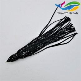 Wholesale Tuna Tackle Wholesale - 6.5 inch Octopus Skirt Lure Fishing Tackle Soft Plastic Worms Salt Lure Big Game Trolling Tuna Lure