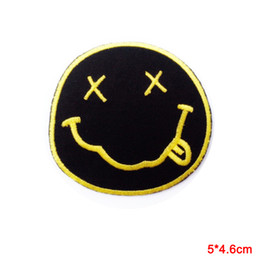Wholesale Sew Embroidery Patches - Nirvana Band embroidered iron on patches Embroidery Sew Iron On Patch Badge