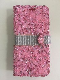 Wholesale Low Price Credit Card Wallet - For Samsung Galaxy S8 Plus S7 Edge S6 Plus Bling Rhinestone Diamond Leather Wallet Case Durable Hard Cover Credit Card Holder Low Price