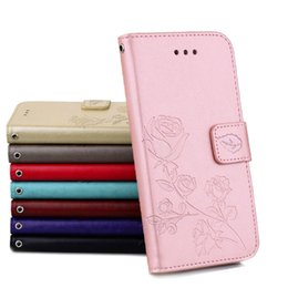 Wholesale Iphone 5s Flip Covers - Card Slot Flip Stand Leather Case Luxury Cover Cases with Wallet For iPhone 5s 6s 6 Plus 7 Plus Samsung S7 Edge S8 Plus