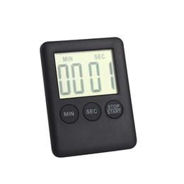 Wholesale Large Digital Table Clock - 2 Colors Square Large LCD Digital Kitchen Timer Cooking Timer Alarm Clock Magnet Despertador Digital Table Clock Temporizador