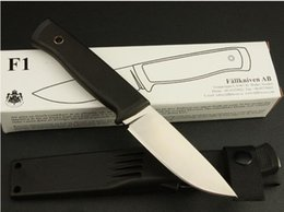 Wholesale Fix Utilities - camp knife F1 knife fixed knives Camping hunting survival outdoor portable combat utility & K too knife with K sheath rescue EDC gift