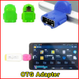 Wholesale Adapter For Keyboard - Mini Robot Shape Micro USB OTG Adapter Android Converter For Tablet PC Mouse Keyboard Smartphone For Samsung Sony Free Shipping