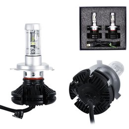 Wholesale H11 Led Bulb Cree - X3 H4 H7 H11 9005 9006 H13 Car LED Headlights Bulbs 50W 6000LM CREE Chips All in one CSP LED Headlamp 6500K