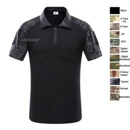 Outdoor Woodland Jagd Schießen US Battle Dress Uniform Tactical BDU Armee Kampf Kleidung Camo Shirt Camouflage T-Shirt SO05-006 von Fabrikanten