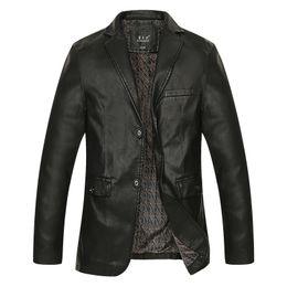 Wholesale Men S Real Leather Jacket - Wholesale- L-8XL Factory Men's Genuine Leather Jacket For Men Real Matte Goat Skin Sheepskin Fashion Brand Black Male Coat Plus Size