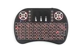Wholesale Keyboards Laptops - Original Normal & Backlit i8 Mini Wireless Keyboard with Russian English Hebrew 3 versions Air Mouse For xBox360 Laptop Tablet free shipping
