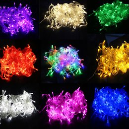 Wholesale Warm Battery - new Opening discount 10M Waterproof 110V 220V led string 100 LED RGB white holiday String lights for Christmas Festival Party twinkle Lights