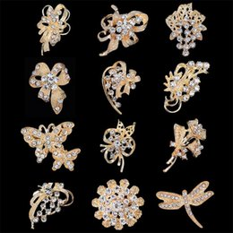 Wholesale Steel Plate Discount - New Gold Brooches Pin Best Silver Small Scarf clips High Quality Fashion Korean style Mix 12 designs wholesales 30% discount DHL free