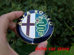 Wholesale Logo Alfa Romeo - 2pcs Specials sale 2016 new 74mm 7.4cm ALFA ROMEO Car Logo emblem Badge sticker for Mito 147 156 159 166 Free shipping