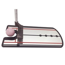Wholesale Golf Alignment Training Aids - Golf Training Mirror Putting Aid Practice Eyeline Alignment Putter Swing Trainer Posture Correction Guide Mirrors Top Quality Gift 36ef F