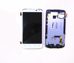 schermata lcd per mega della galassia Sconti 100% Screen Test di bianco sensori tattili di vetro Digitizer + LCD Display del pannello Assembly + Frame per HTC Sensation XL X 315 EG 21