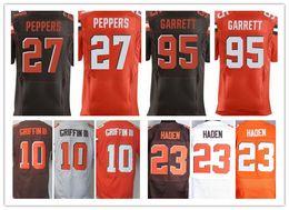 Wholesale Robert Quality - Chaep Men's Elite 10 Robert Griffin III 23 Joe Haden 27 Jabrill Peppers 95 Myles Garrett American Football Jerseys,Best Quality