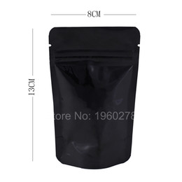 Wholesale Wholesale Black Ziplock Foil Bags - 8x13cm(3x5in) 100pcs Heavy-Duty 5 MIL aluminum foil stand up zip lock bags Clear  Black ziplock packaging bag