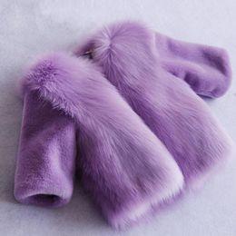 Wholesale Boy Toddlers Jacket - Fashion Faux Fur Kids girls winter coat Thick Parkas Cotton Children Clothing Toddler Baby Coats Jackets girls winter jacket