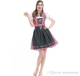 Wholesale Beer Maid Dress - New Maid Role Playing Clothes Halloween Costume Cosplay For Women Party Formal Beer Dress Costumes PS2841