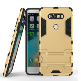Wholesale E5 Case - Hybrid TPU PC Shockproof defender Case for LG G4 G5 G6 C90 K7 K10 V20 LS775 redmi Note 4 Z5 E5 P9 armor protector case DHL free GSZ290