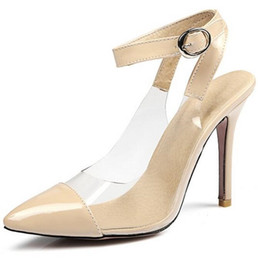 Wholesale Girls Kitten Shoes - Bride Party women high heels ankle strap sexy pointed toe pumps ladies spring shoes woman wedding large size 31-47 girls