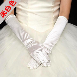 Wholesale More Cheaper - 2017 Hot Sales Cheaper More Color Bridal Gloves gants mariée Sexy Long Sleeve Full Finger Below Elbow Length Good Quality Gloves Bridal