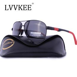 Wholesale Sunglasses Luxury Original Box - 2017 Hot sale top LVVKEE brand design men Polarized Sunglasses driving sunglasses UV400 Top quality Luxury brands original box