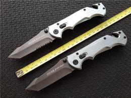 Wholesale Full Manual - Sog D25 Daggert 2 Phantom Firebird Full size Folding blade knife 440 Steel Plain   Serrated Tanto Rescue camping knives Manual opening