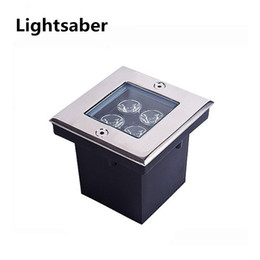 Wholesale Outdoor Garden Fountains - 1W 4W 5W LED Outdoor Garden Underground Square Buried Light Flood Lamp Waterproof AC85-265V bar stage garden floor outdoor lighting