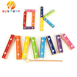 Wholesale Baby Instruments Xylophone - New Patented Wood Variety Building Blocks Educational Toys Baby Early Childhood Musical Instruments Wooden Knocking Xylophone Piano Kid Gift