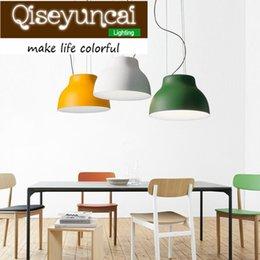 Wholesale E 27 Led - Qiseyuncai Nordic minimalist E 27 Single head aluminum chandelier originality art decorative lighting free shipping