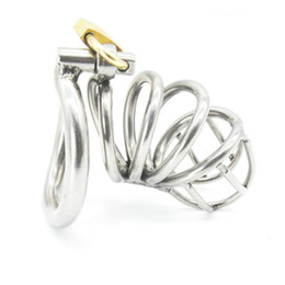 Wholesale chastity belts - Stainless Steel Male Chastity device Adult Cock Cage With arc-shaped Cock Ring BDSM Sex Toy Bondage Men Chastity Belt