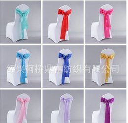 Wholesale Chair Covers Sashes Band The Wedding Back Butterfly Ribbon Fashion Belt Elastic Coverings Knot Tie Bands kq
