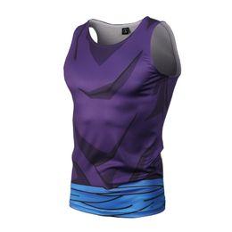 Wholesale Mens Tank Top Slim Fit - Wholesale- Brand mens t shirts Summer Cotton Slim Fit Men Tank Tops Clothing Bodybuilding Undershirt Golds Fitness tops tees