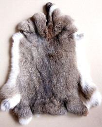 Wholesale Wholesale Fabric Sewing Material - Raw Rabbit Fur   Natural Rabbit Skin   Rabbit Fur Material