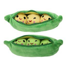 Wholesale Tv Shaped Gifts - Wholesale- MINOCOOL 25 40CM Pea-shaped Pillow Toy Cute Pea Stuffed Plant Doll Girlfriend Kawaii For Children Gift