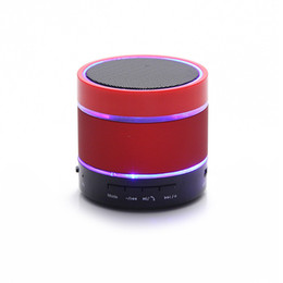 Wholesale Mp3 Guns - new Speakers Subwoofers S09 Wireless LED Bluetooth Speaker Mobile Mini Portable Subwoofer Card Radio Outdoor Small Steel Gun Audio 1480