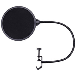 Wholesale Microphone Gooseneck - Double Layer Studio Microphone Mic Wind Screen Mask Gooseneck Shied Pop Filter