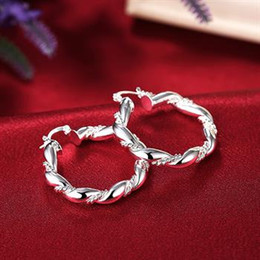 Wholesale Plant Hoops - Wholesale - lowest price Christmas gift 925 Sterling Silver Fashion Earrings yE156