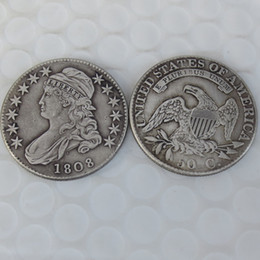 Wholesale Nice Caps - 1808 CAPPED BUST HALF DOLLAR COIN COPY Promotion Cheap Factory Price nice home Accessories Silver Coins