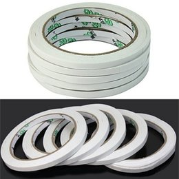 Wholesale Double Face Paper - Wholesale- 2016 2017 2 Rolls 18M Hot Powerful Double Faced Adhesive Tape Paper Double Sided Tapes For Mounting Fixing Pad Sticky Hot Sell