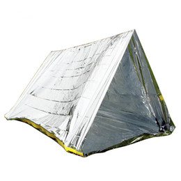 Wholesale foil survival blankets - Wholesale- Wnnideo tent Multi Purpose Heat Survival Foil Blanket Emergency Blanket tent