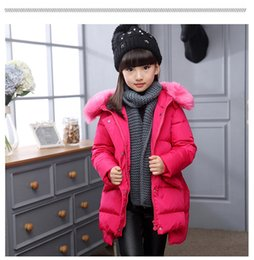 Wholesale Cute Jackets For Kids - 2016 Fashion Girl winter down Jackets Children Coats warm baby 100% thick duck Down Kids Outerwears for cold -30 degree jacket
