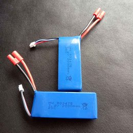 Wholesale Battery Lipo 2s - 2000mAh 2S 7.4V 25C Lipo Battery Helicopter Battery Syma X8C X8W X8G X8HC X8HW X8HG with voltage protection board Quadcopter Drone