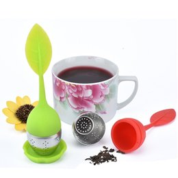 Wholesale unique teapots - 5 PC Unique Cute Tea Strainer Silicone Leaves Man Shaped Tea Infuser Teapot Filter for Tea & Coffee Drink ware Gifts