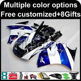 Wholesale White Fairings For Suzuki - 23colors+8Gifts BLUE white motorcycle cowl for Suzuki RGV250 VJ22 1991-1996 VJ22 1991 1992 1993 1994 1995 1996 ABS Plastic Fairing