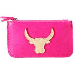 Wholesale Bullhead Brand - Wholesale- GAINA Brand Designer Bullhead Key Wallet Soft Leather Bull Coin Purses PU Leather Women Key Coin Holder Women Key Pouch 500552