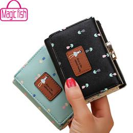 Wholesale Money Fish - Wholesale- Magic Fish wallet for women dollar price short leather purse high quality wallets brands purse female bag money bag LM4265mf