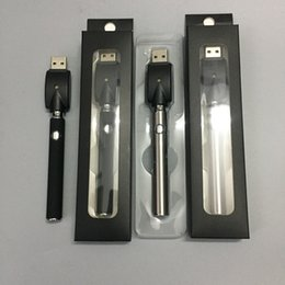 Wholesale E Cig Auto Battery - OEM Pre-heat Batteries + USB charger for E Cig Variable Voltage eCig 350mAh Auto Preheating Battery for extract Oil Cartridge Glass Tank