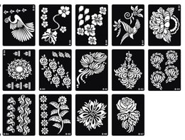 Wholesale Temporary Tattoo Stencils Free - Wholesale-Free Shipping 200pcs Big Size Temporary Tattoo Stencil 18.5*9.5CM,15*12 CM - For Airbrush   Glitter Tattoo   Body Painting